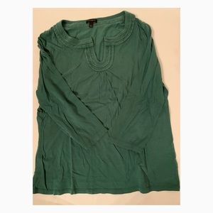 Used Women's Talbots Green Shirt - Size Large